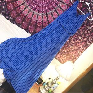 APT 9 large blue & black soft maxi dress